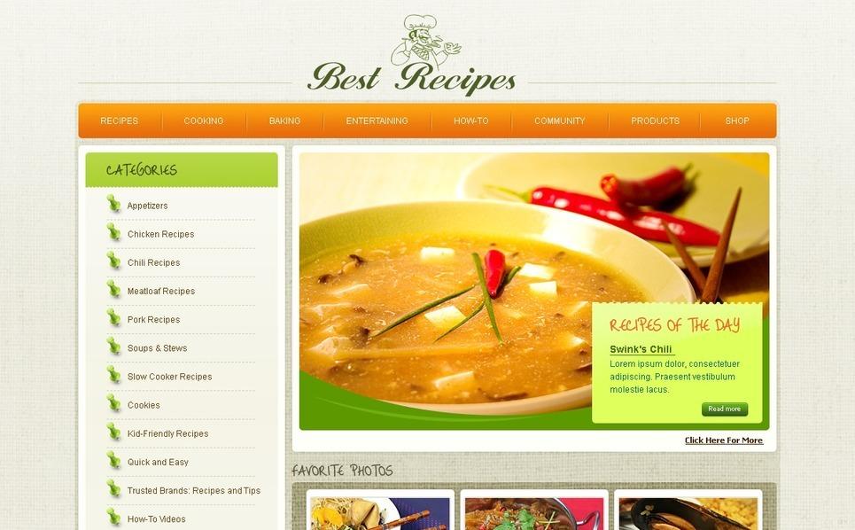 Template siti web per un sito di cucina for Siti di ricette cucina