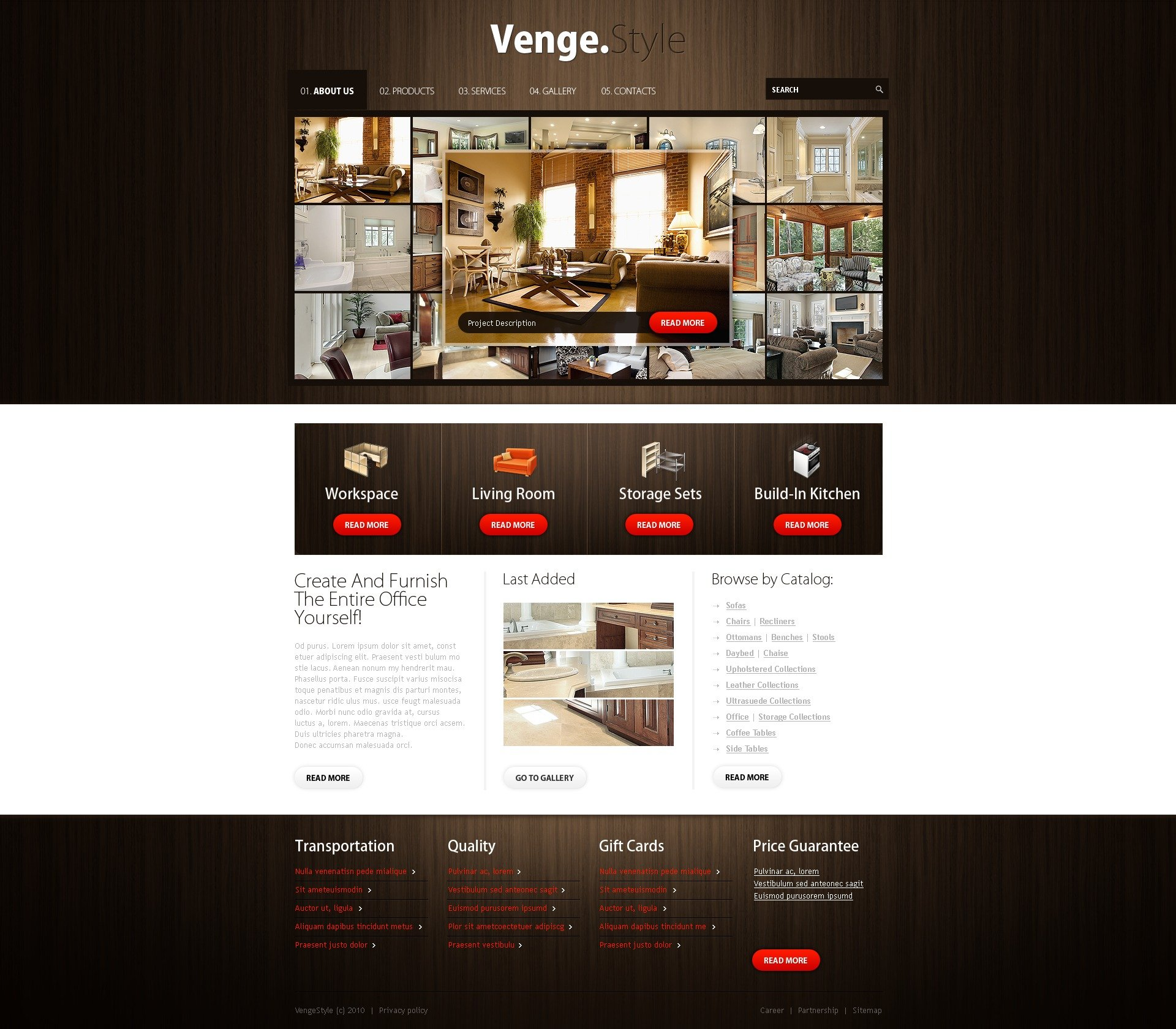 Furniture Web Sites: Furniture Website Template #29545