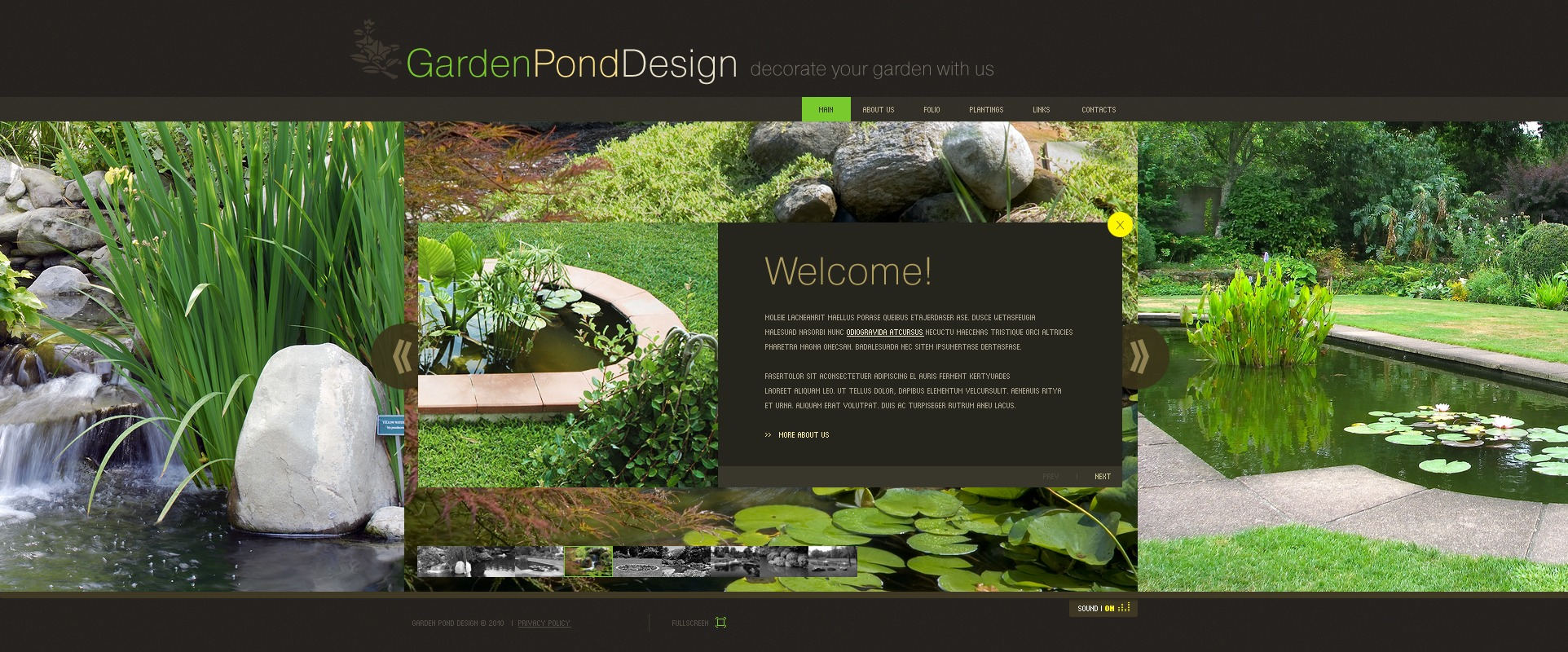 garden design flash template - Garden Design Template