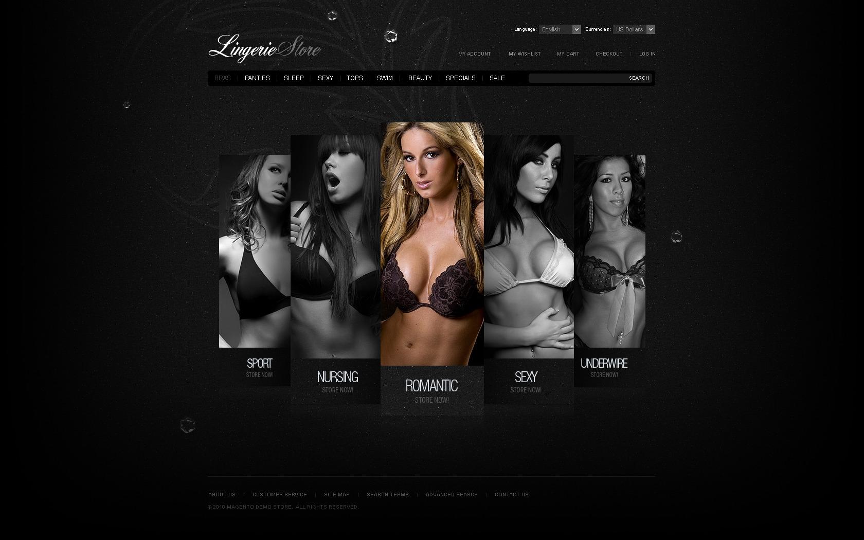 Lingerie Magento Theme - screenshot