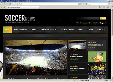 Soccer Website Template By WT Website Templates - Soccer website templates
