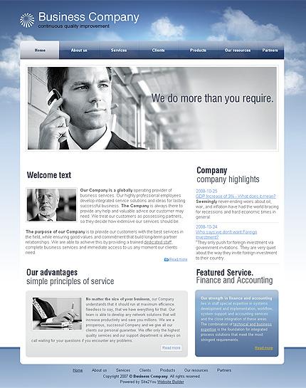 ADOBE Photoshop Template 29689 Home Page Screenshot