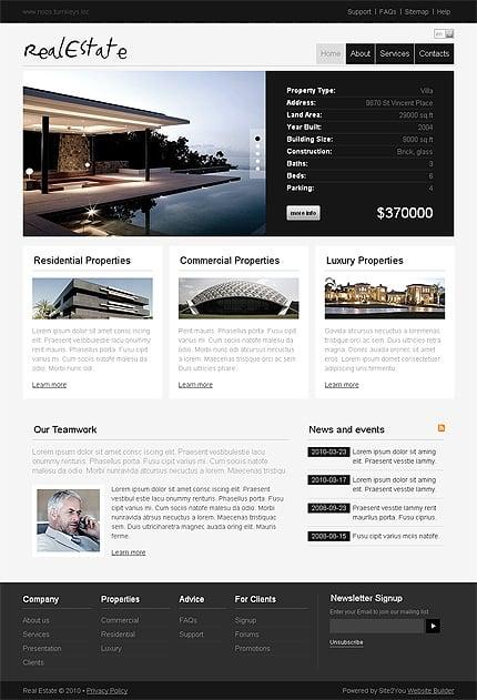 ADOBE Photoshop Template 29690 Home Page Screenshot