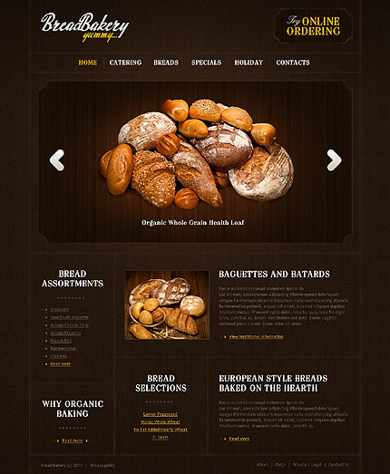 Pagini web brutarie