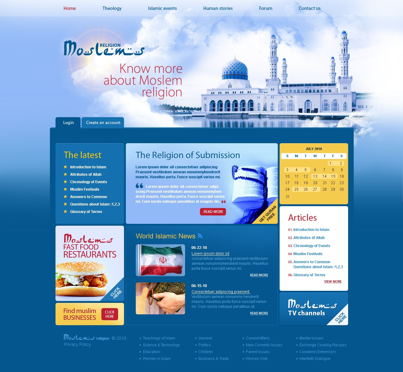 Islam Website Template #29874