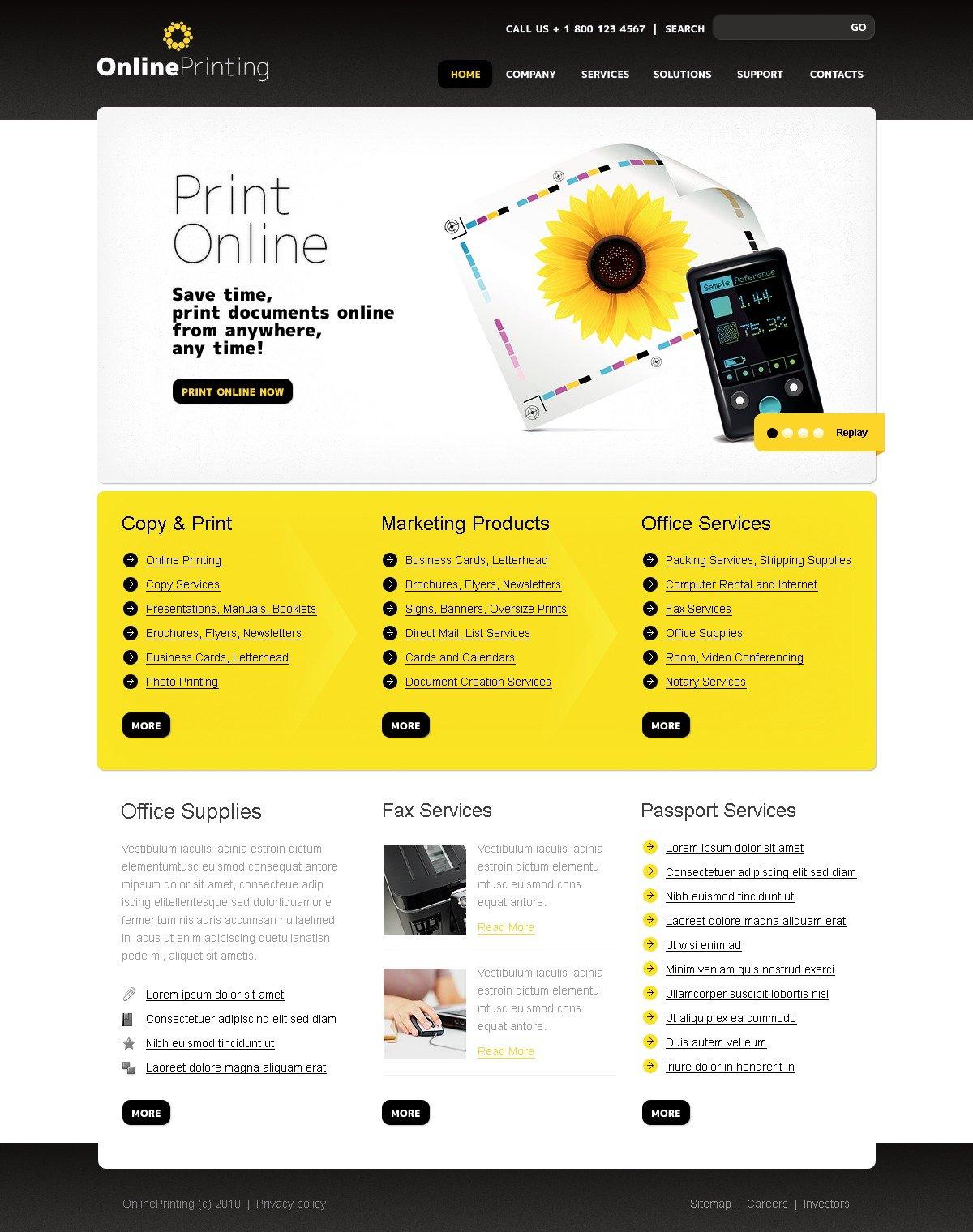 print shop website template 29903 by wt website templates. Black Bedroom Furniture Sets. Home Design Ideas