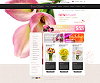 Flowers ZenCart  Template 29971