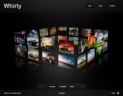 ADOBE Photoshop Template 30005 Home Page Screenshot