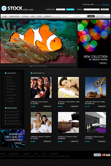 ADOBE Photoshop Template 30038 Home Page Screenshot