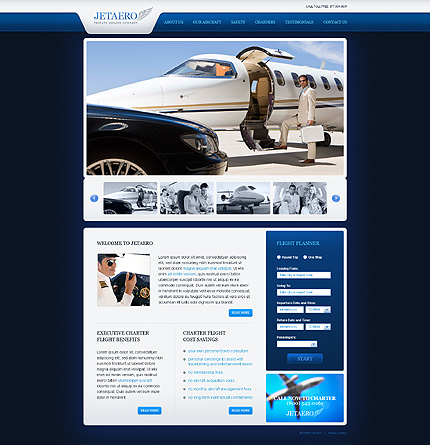 Creare site companie aeriana