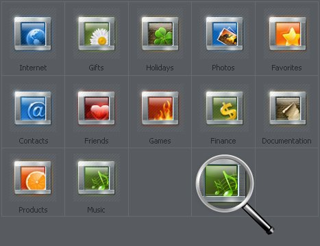 Icon Set Template 30236 Screenshots