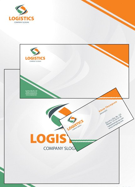 Transportation Corporate Identity Template Vector Corporate Identity preview