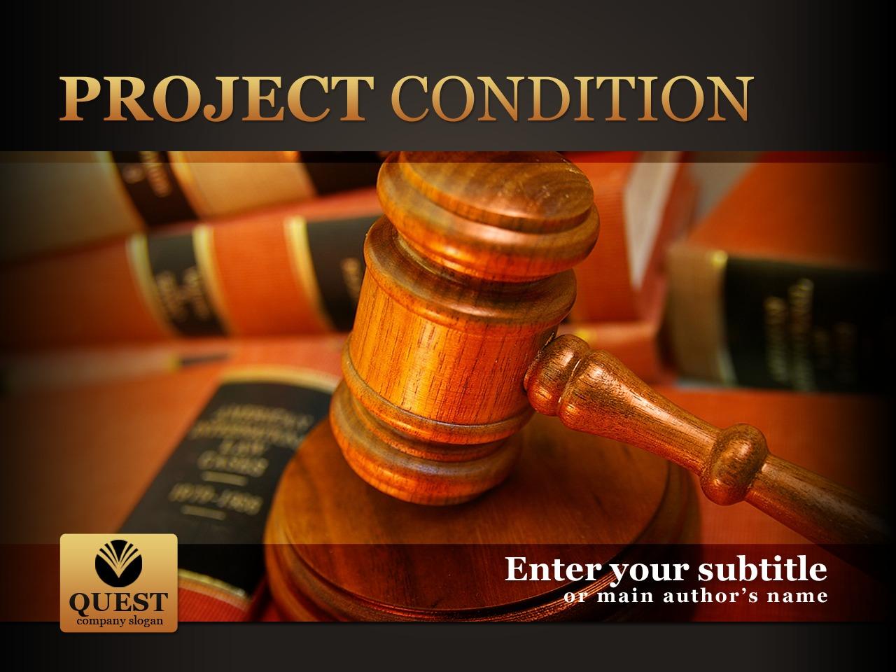 Template PowerPoint para Sites de Escritório de Advocacia №30273