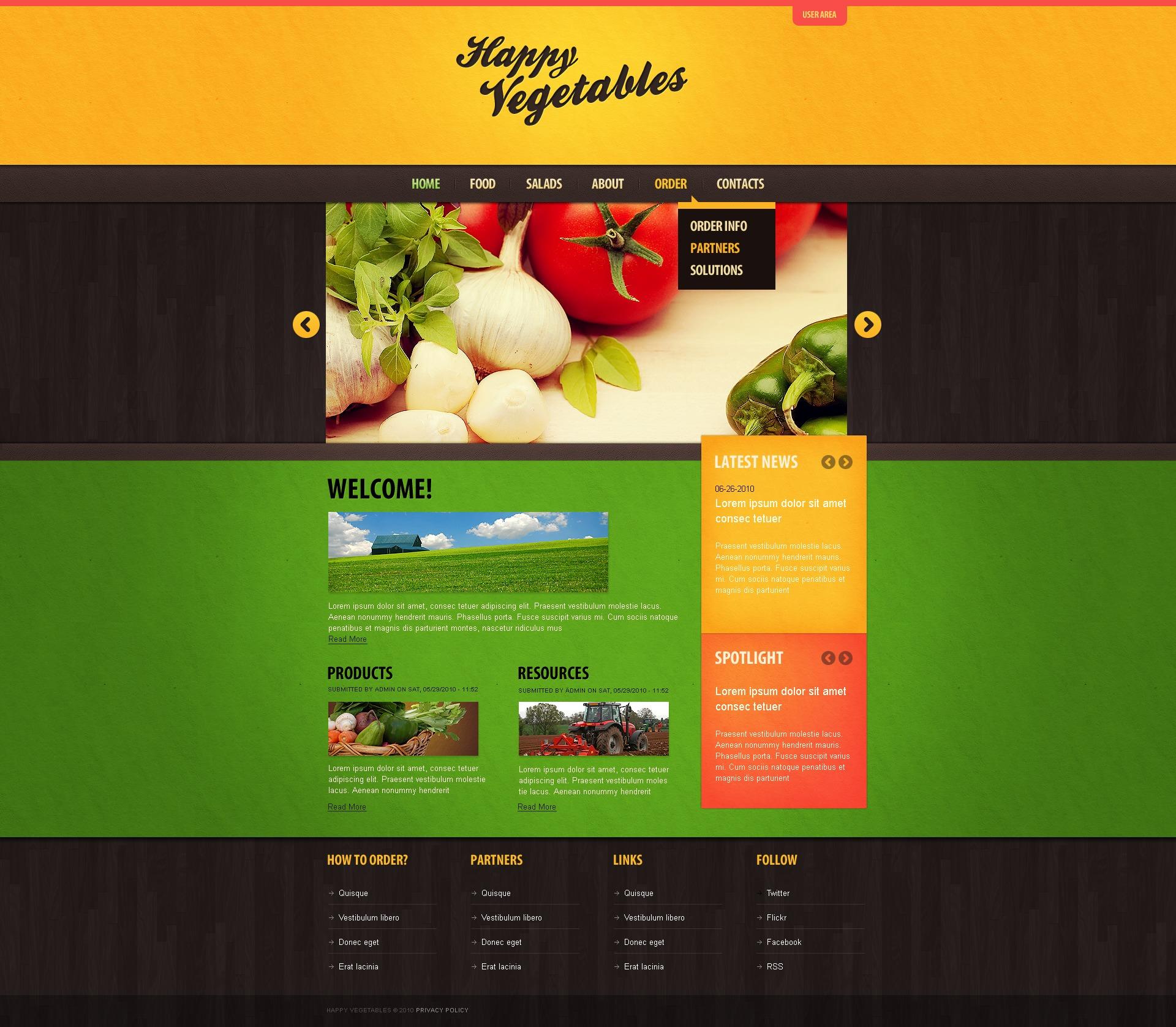 vegetable drupal template 30250