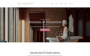 Spa Website Design - Melissa & Lauren - tablet image