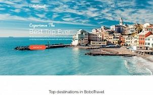 Travel Website Design - BoboTravel - tablet image