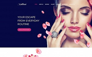Nail Salon Website Design - Naillasi - tablet image