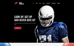 Football Website Design - Field Warrior - tablet image