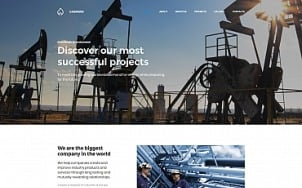 Oil Company Website Design - Gaspero - tablet image