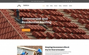 Roofing Website Design - Rooferco - tablet image