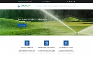 Irrigation Website Design for Sprinkler and Water Systems - tablet image