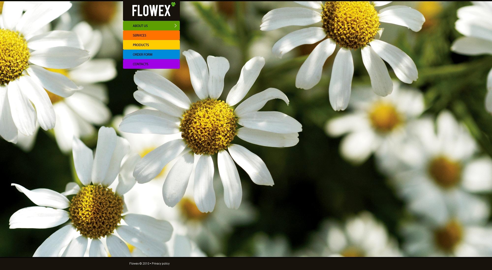 Joomla Template over Bloemen №30351 - screenshot