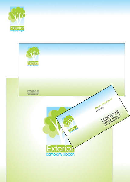 Exterior Design Corporate Identity Template Vector Corporate Identity preview