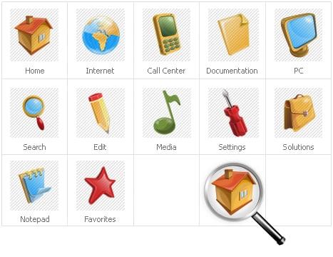 Icon Set Template 30508 Screenshots