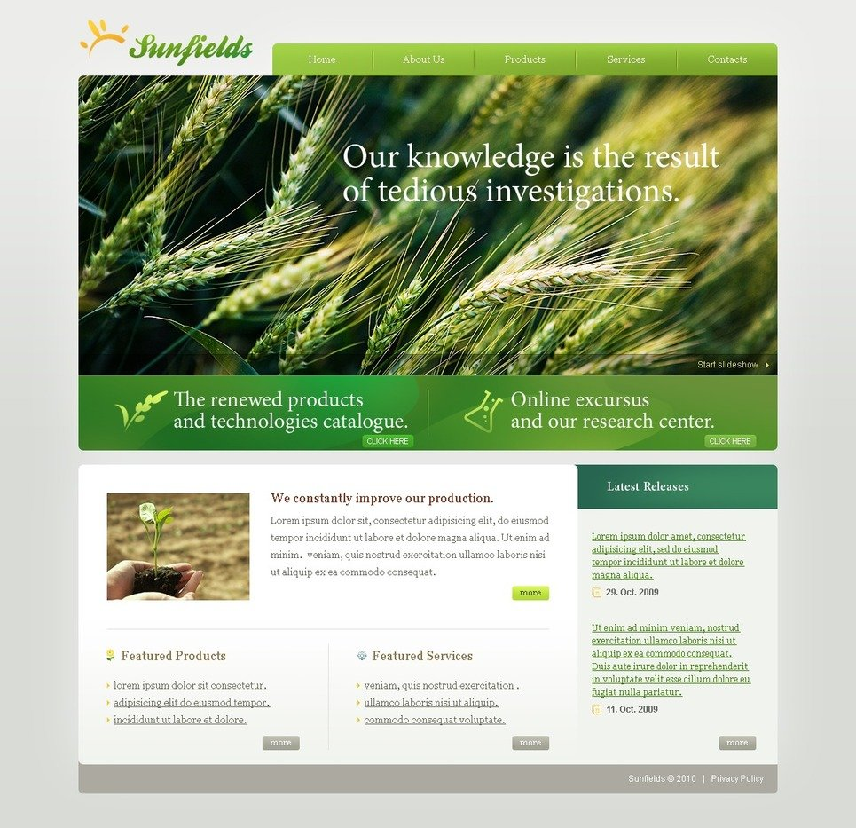 Agriculture Turnkey Website 2 0 30517