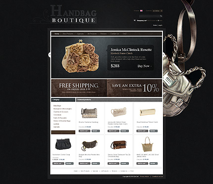 ZenCart Template 30581 Main Page Screenshot