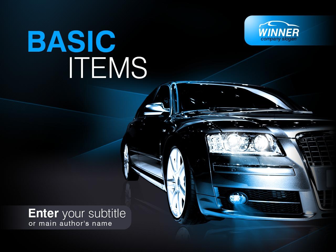 Plantilla PowerPoint #30563 para Sitio de Concesionarios de coches - captura de pantalla