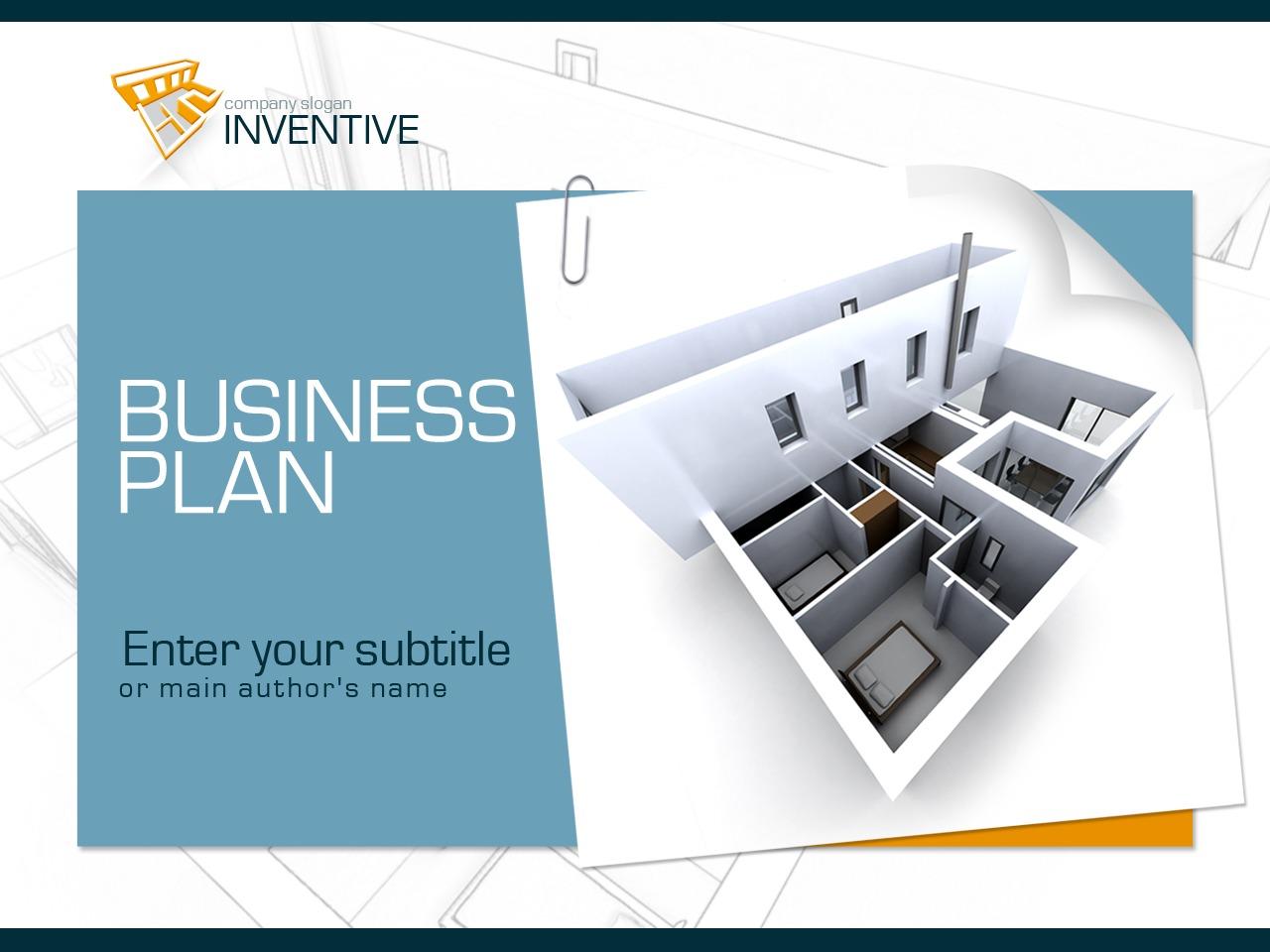 PowerPointmall för Arkitektur #30562