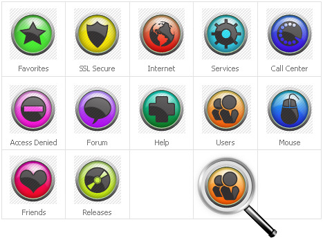 Neutral Iconset Template Icon Set