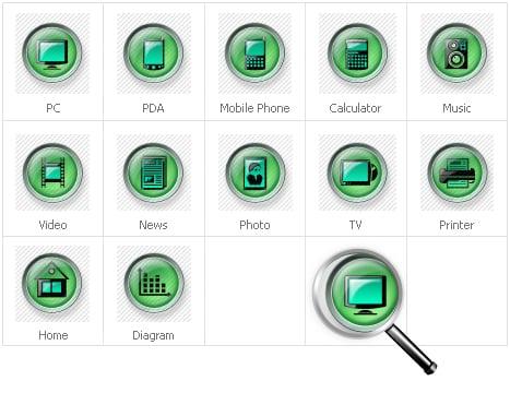 Conjunto de Ícones para Sites de Neutral №30679 - screenshot