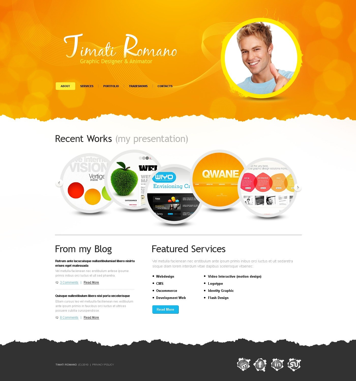 Designer Portfolio Website Template 30627