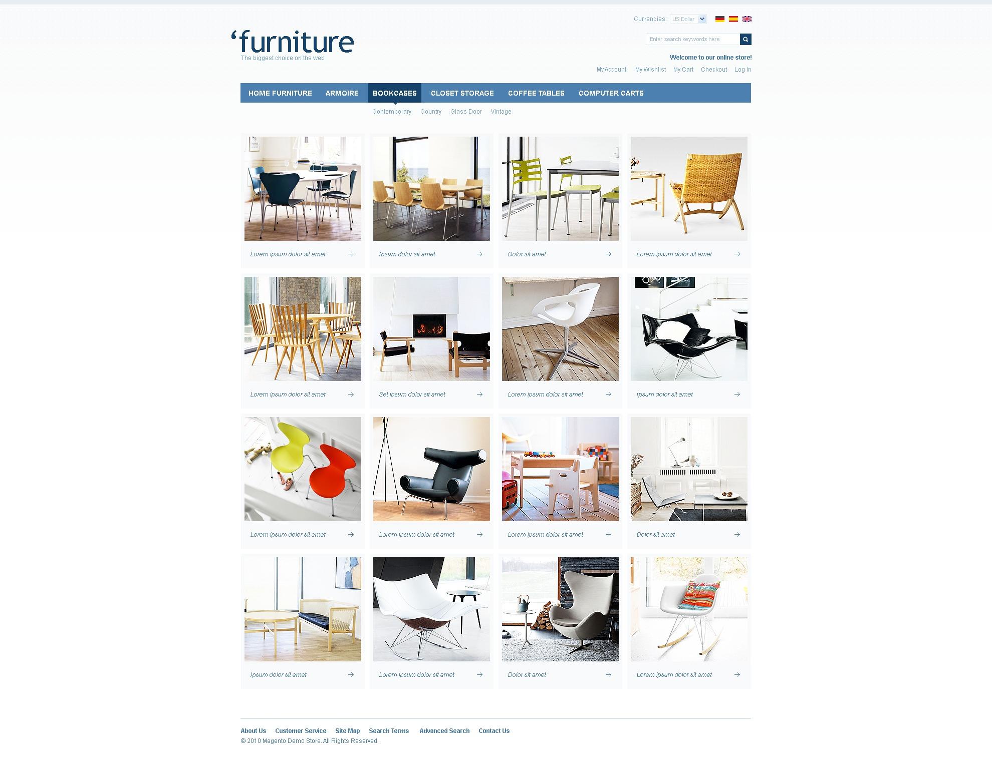 Furniture Magento Theme - screenshot