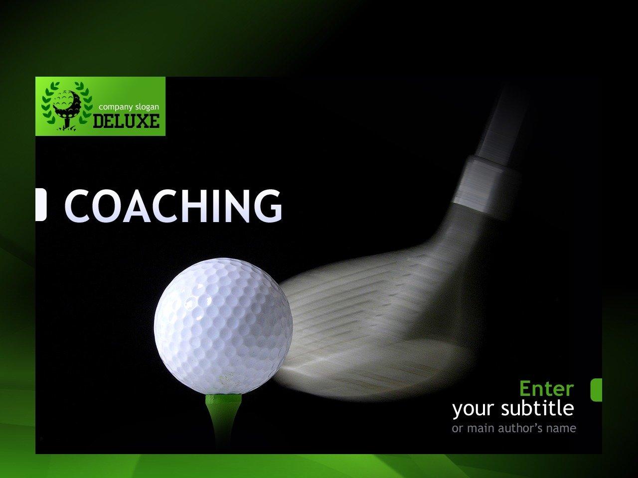 高尔夫球PowerPoint 模板 #30687