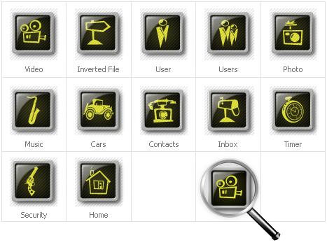 Набір іконок на тему neutral templates №30640 - скріншот