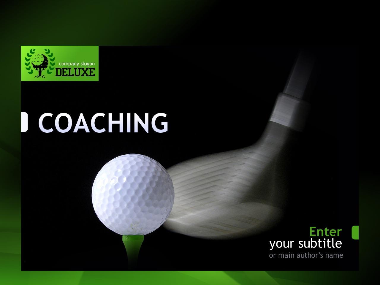 PowerPoint шаблон №30687 на тему гольф - скриншот