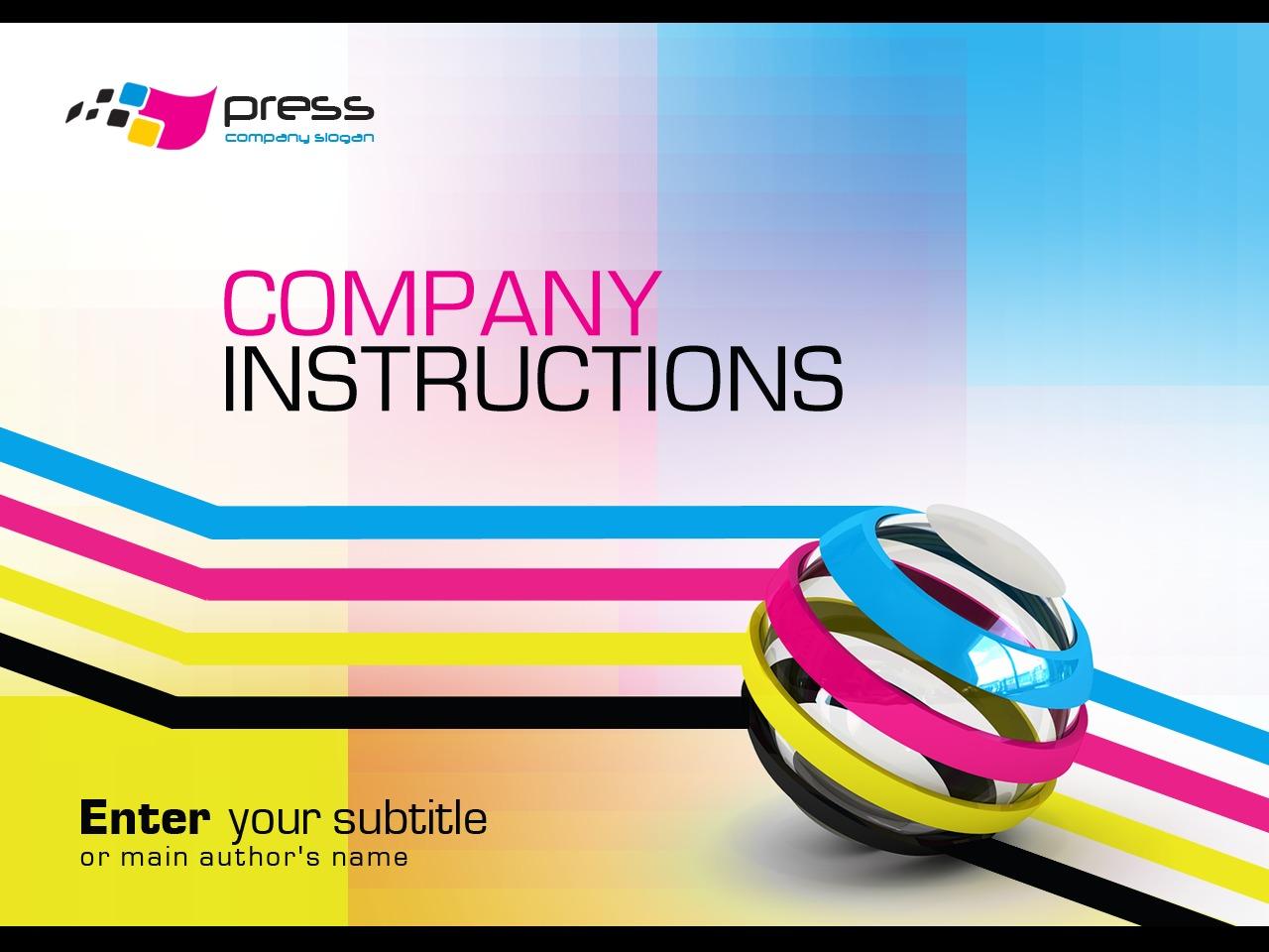Template PowerPoint para Sites de Lojas de Serviços de Impressão №30686