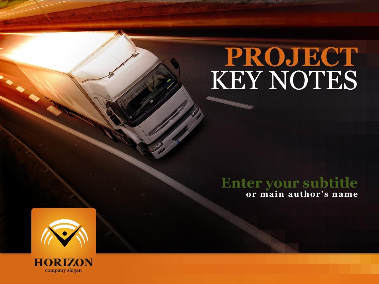 Template PowerPoint para Sites de Transporte №30689