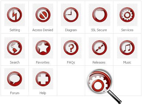 Icon Set Template 30718 Screenshots