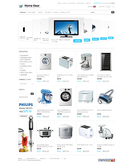 ZenCart Template 30721 Main Page Screenshot