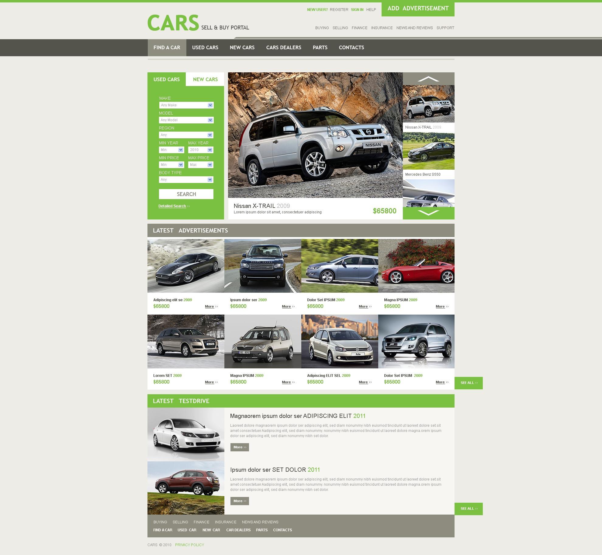 Plantilla Web #30724 para Sitio de Concesionarios de coches