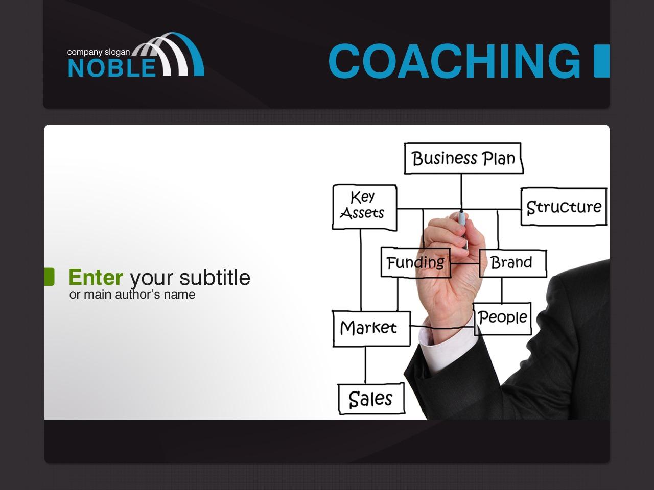PowerPoint шаблон на тему школа бізнесу №30791