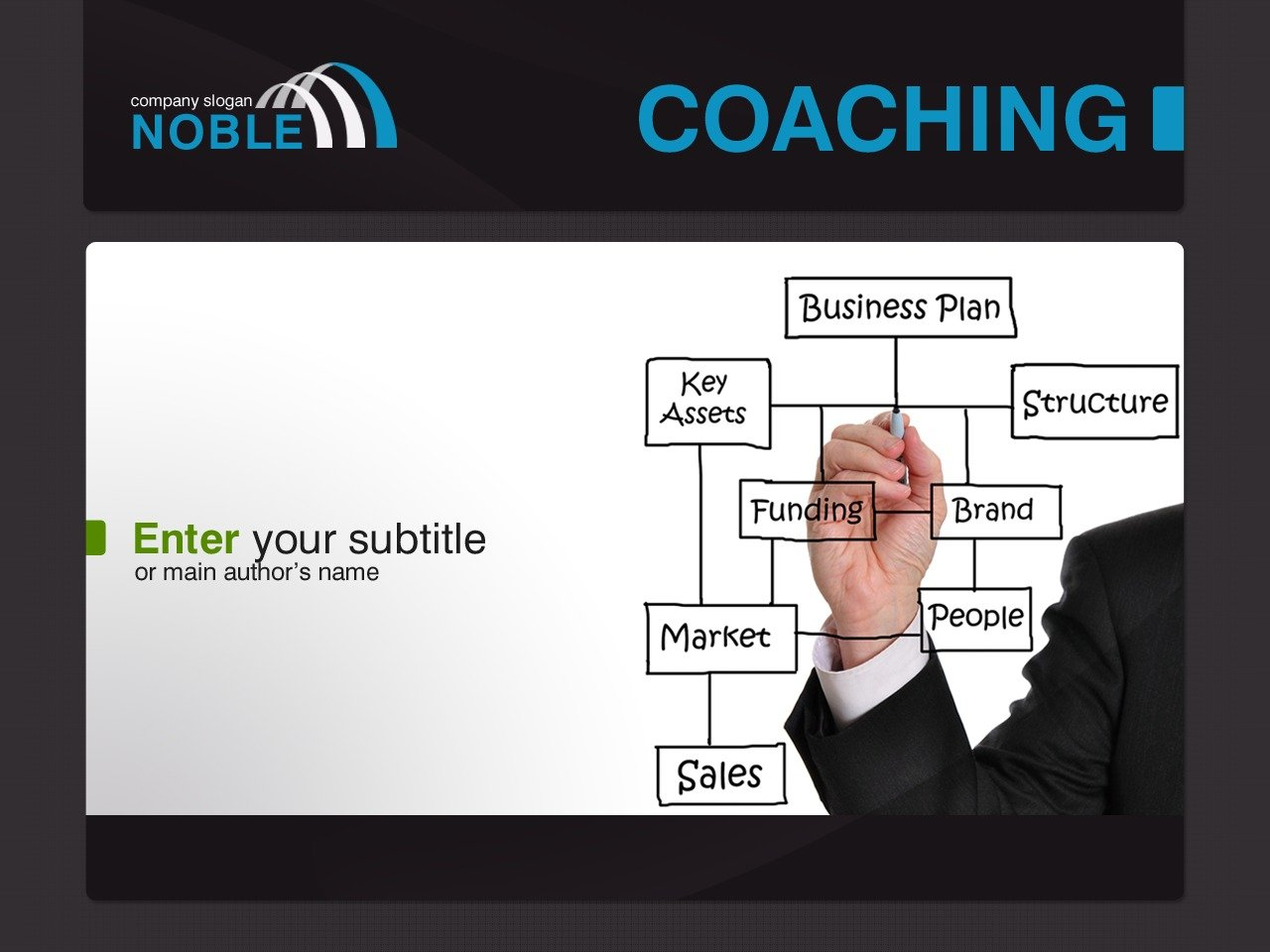 Szablon PowerPoint #30791 na temat: szkoła biznesu - zrzut ekranu