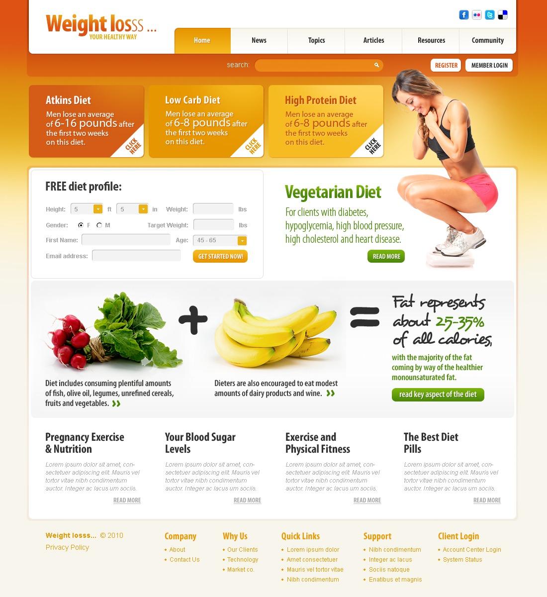 Шаблоны сайта похудения