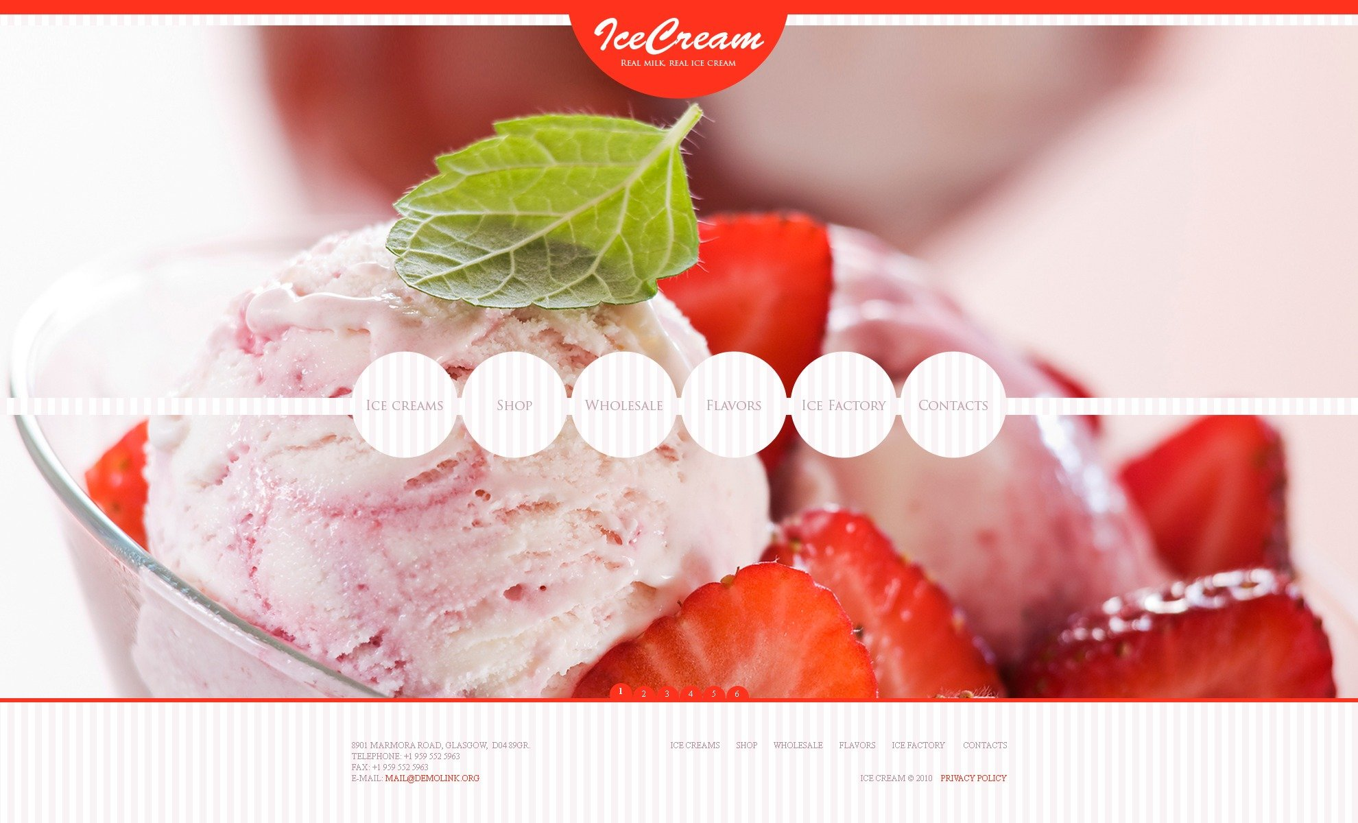 Ice Cream Website Template #30823
