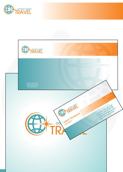 Travel Corporate Identity Template Vector Corporate Identity preview