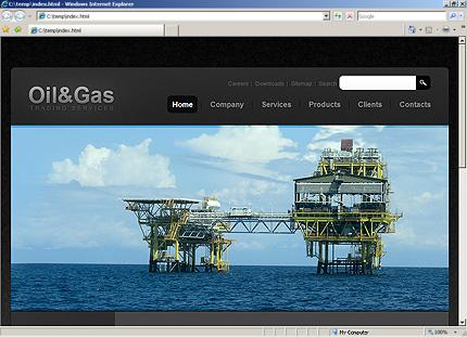 Homepage HTML